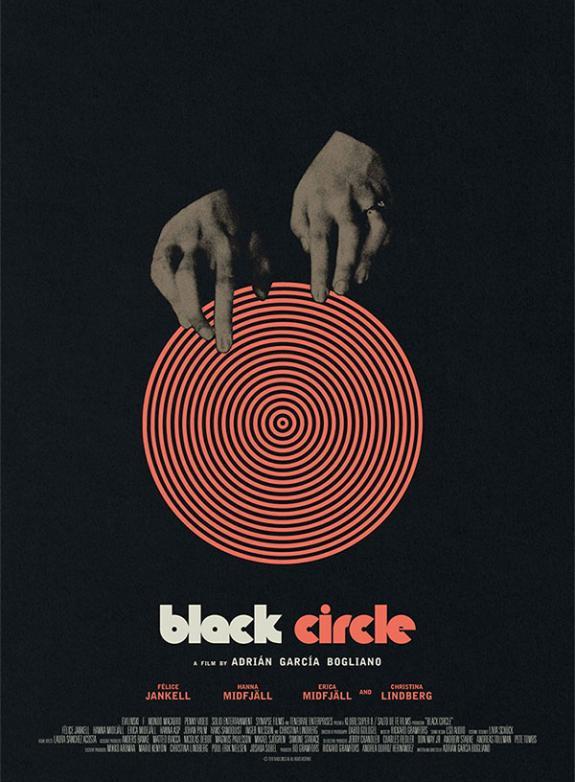 Svart cirkel poster