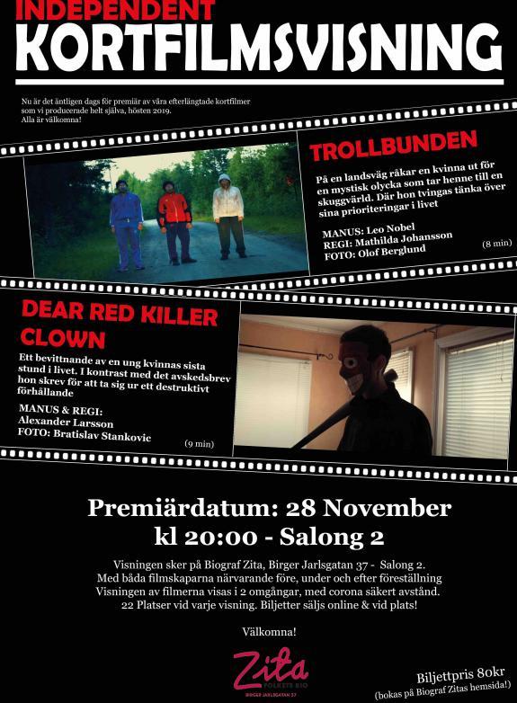 Independent Kortfilmsvisning poster