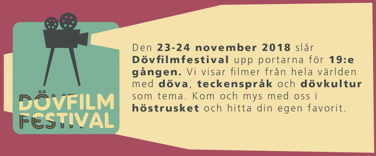 Dövfilmfestival 2018